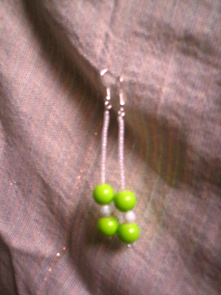 orecchini verde
