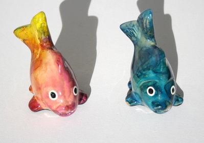 Pesce in ceramica coda alta dim. medie
