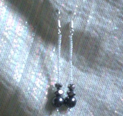orecchini con pietra argento