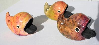 Balena in ceramica da usare come posacenere o soprammobile