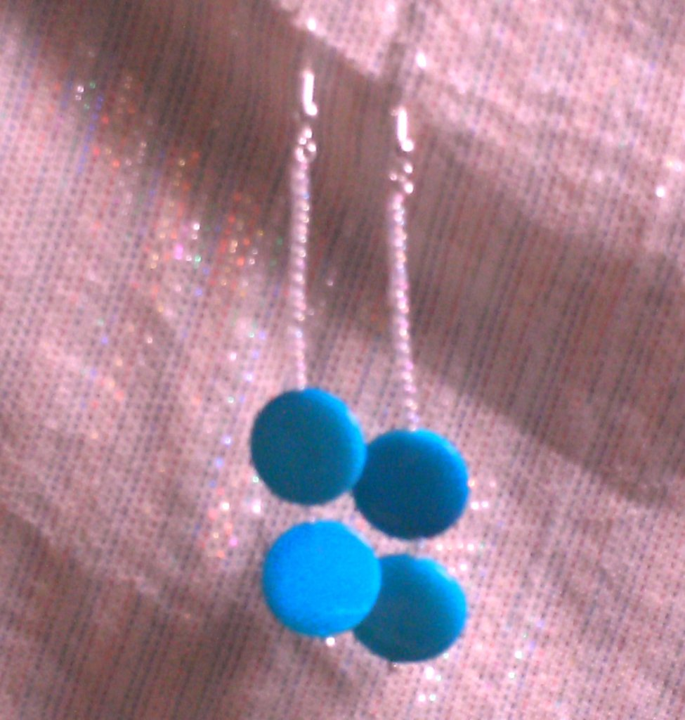 orecchini con madreperla blu