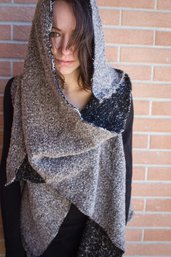 Gilè/Sciarpa di lana bouclè