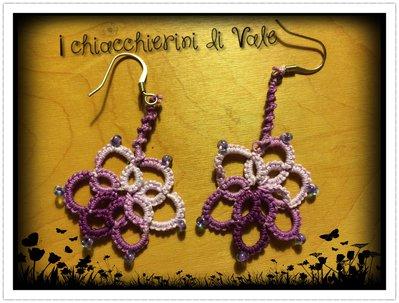 orecchini chiacchierino violetta