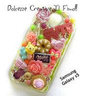 Cover Samsung SEMIFLESSIBILE  Galaxy s5 fiocco, cioccolato, kawaii,leccalecca,  rosa, cute kawaii, pastel goth