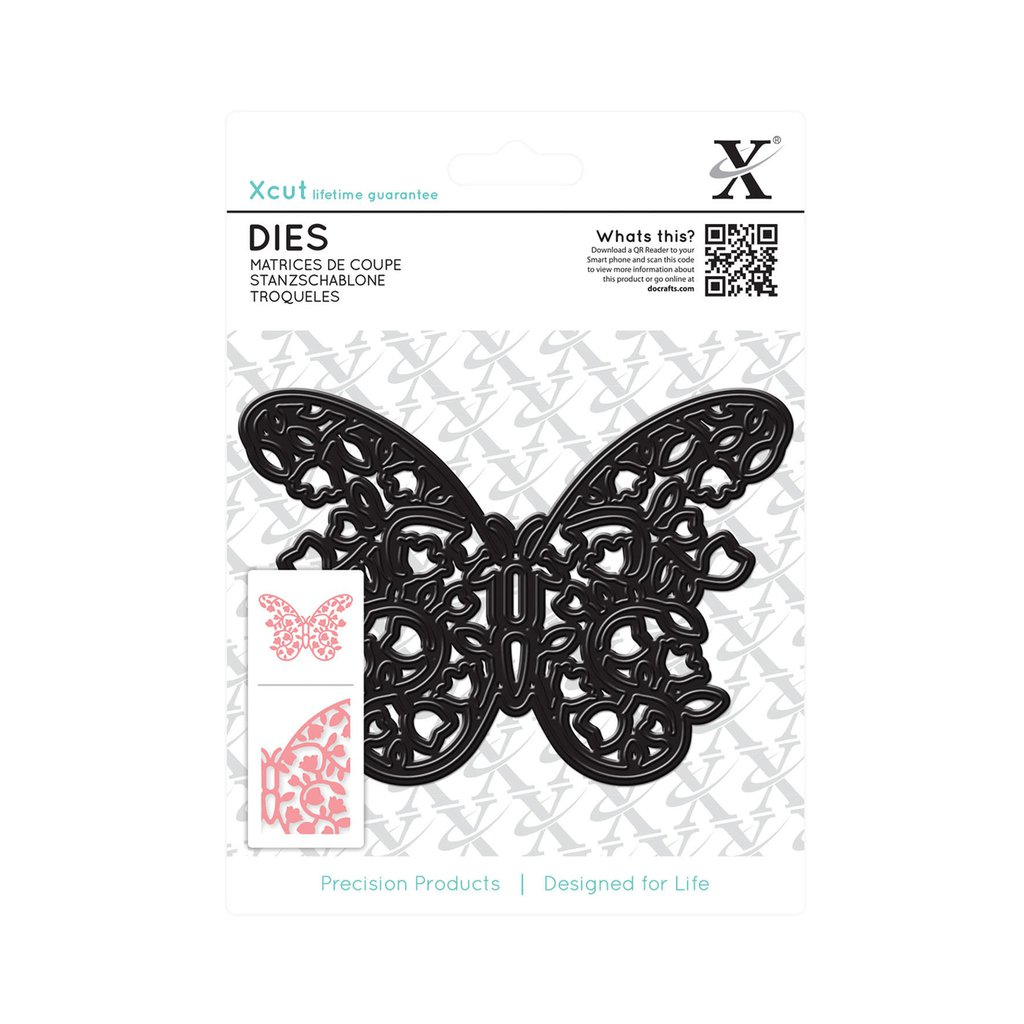 Fustella Xcut - Floral Filigree Butterfly