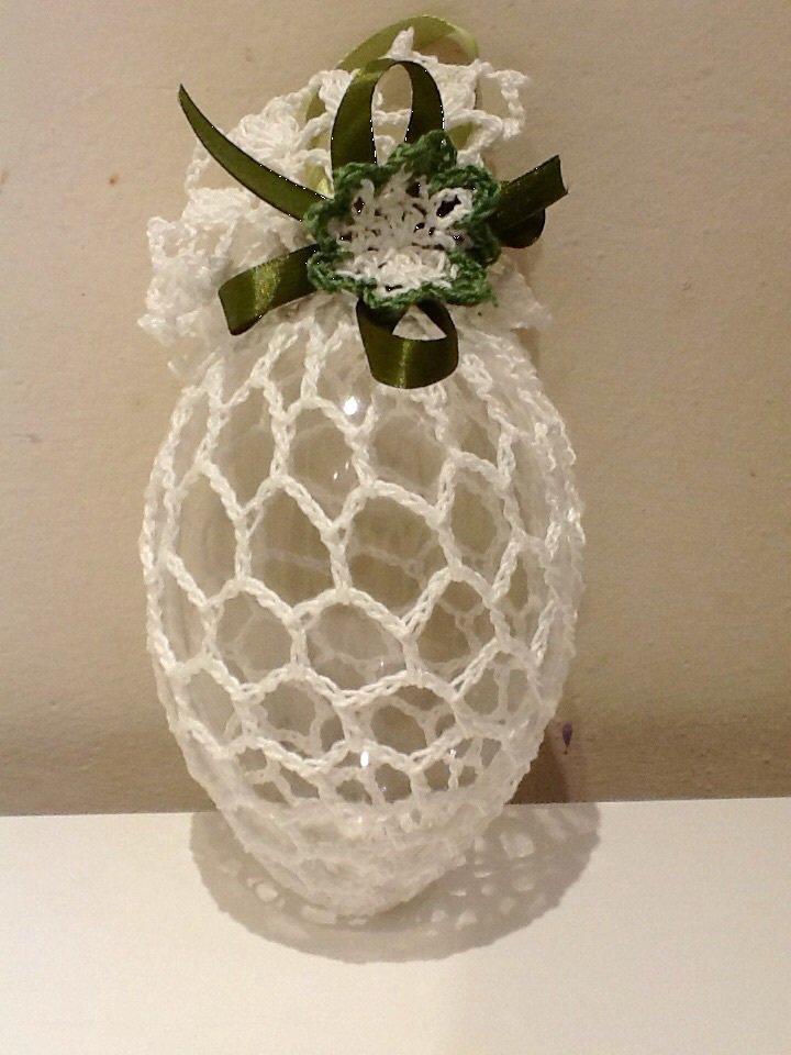 Uovo Pasqua decorato ad uncinetto