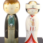 Bambola giapponese, Kokeshi Sposi per Sempre A390027