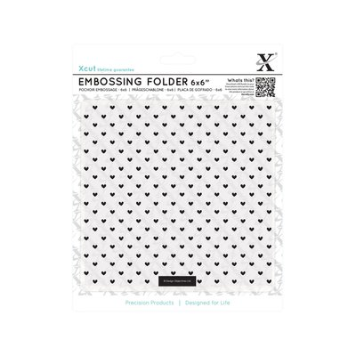 Fustella per embossing 15x15 cm - Small Polka Hearts