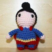 Portachiavi uncinetto amigurumi Superman