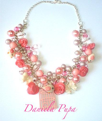 Collana Secret Garden  (rosa)