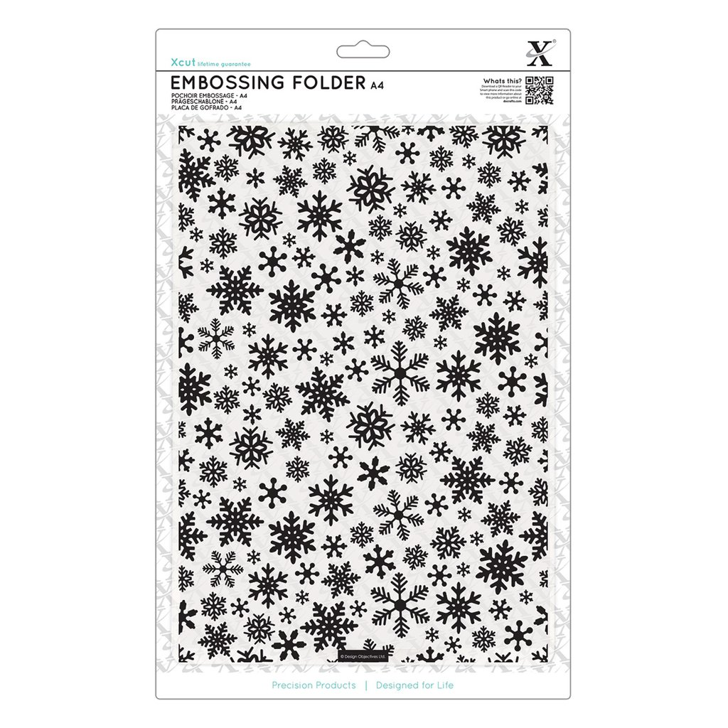 Fustella per embossing A4 - Snowflake Pattern