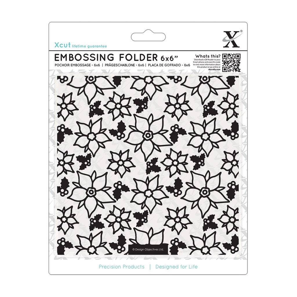 Fustella per embossing 15x15 cm - Poinsettia Pattern