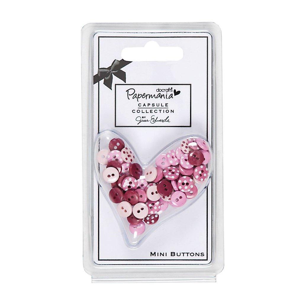 Set 60 mini bottoni - Capsule Parkstone Pink