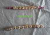 Bracciale con perline in legno (Francesca)