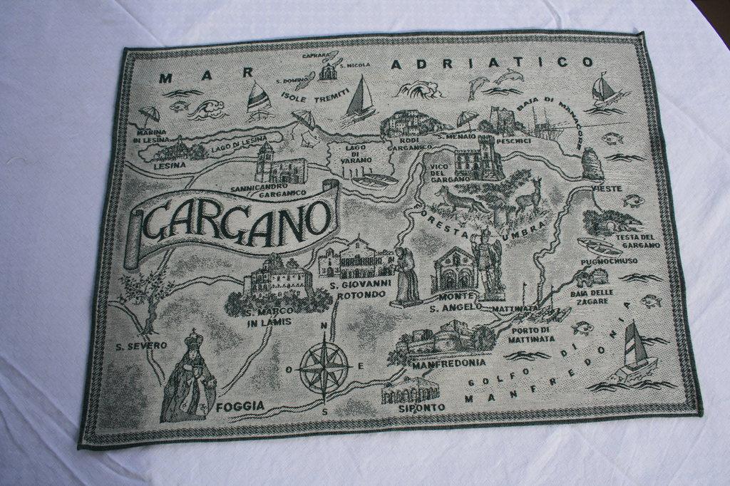 CANOVACCIO, STROFINACCIO MAPPA GARGANO IN COTONE