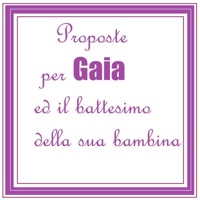 Set di bomboniere per Gaia ed il battesimo della sua bambina.