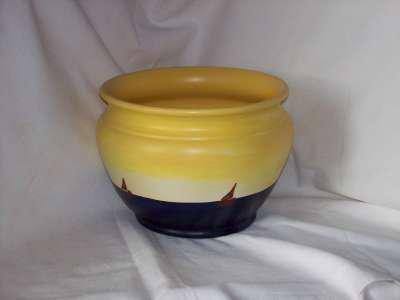 Vaso in argilla decorato