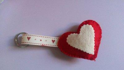 porta chiavi a forma di cuore