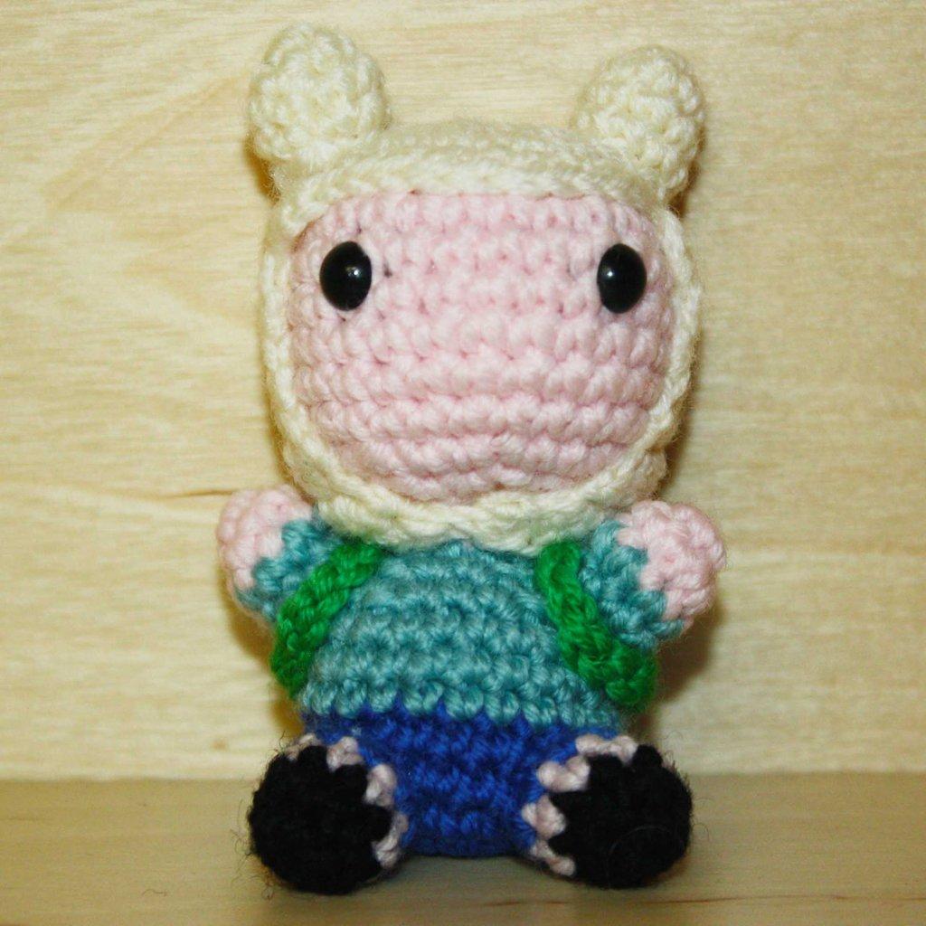 """Pupazzetto uncinetto amigurumi """"Finn"""" Adventure Time"""