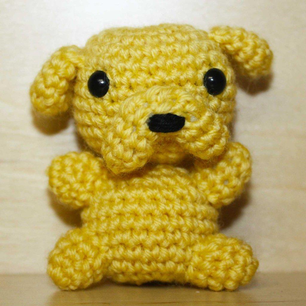 """Pupazzetto uncinetto amigurumi """"Jake the dog"""" Adventure Time"""