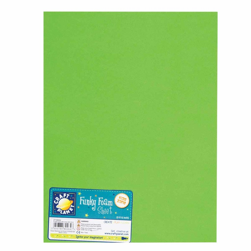 Foglio gomma crepla 23x30 cm - Lime