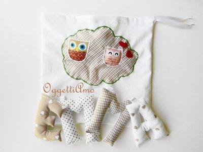 Emma: ghirlanda di lettere di stoffa imbottite, un'idea regalo per una neomamma e la sua bambina!