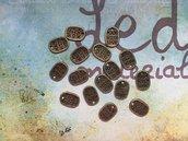 10 Charms Targhetta Made with love bronzo