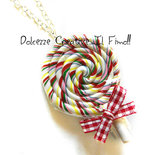 Collana Leccalecca Lollipop idea regalo pastel goth kawaii multicolor arcobaleno