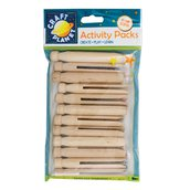 12 Dolly Pegs - Naturale