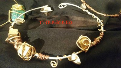 Collana EURIDICE - Collana rigida realizzata con la tecnica wire