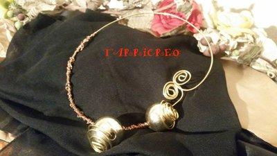 Collana APHRODITE - Collana rigida realizzata con la tecnica wire