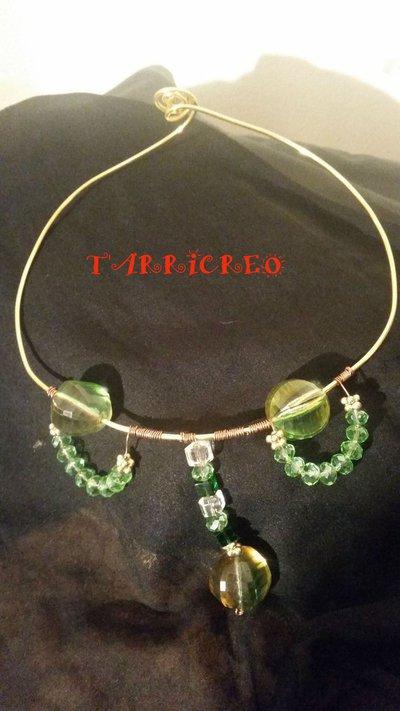 Collana ARTEMIDA - Collana rigida realizzata con la tecnica wire