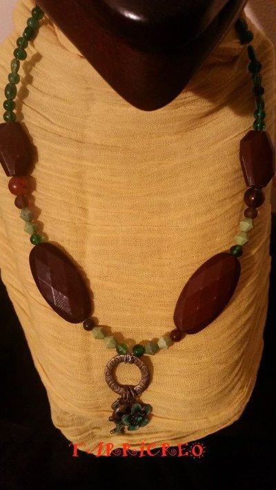 Collana CALIPSO - Collana in filo di metallo morbido con pietre