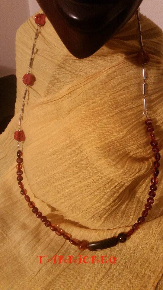 Collana FEBE - Collana realizzata con filo in metallo morbido e catena