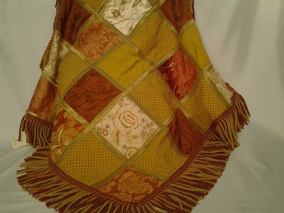 Tappeto patchwork  nei toni dell'oro