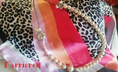 Collana EUFROSINE - Collana in filo di metallo morbido con perle