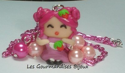 Collana kawaii doll fimo cernit