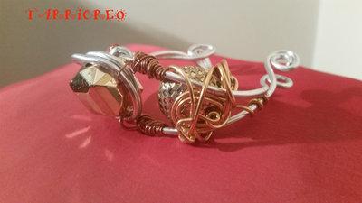 Bracciale Euridice realizzato con tecnica wire