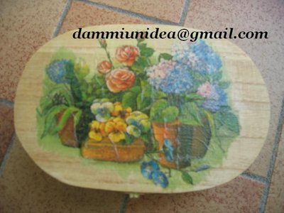 Portagioie in decoupage