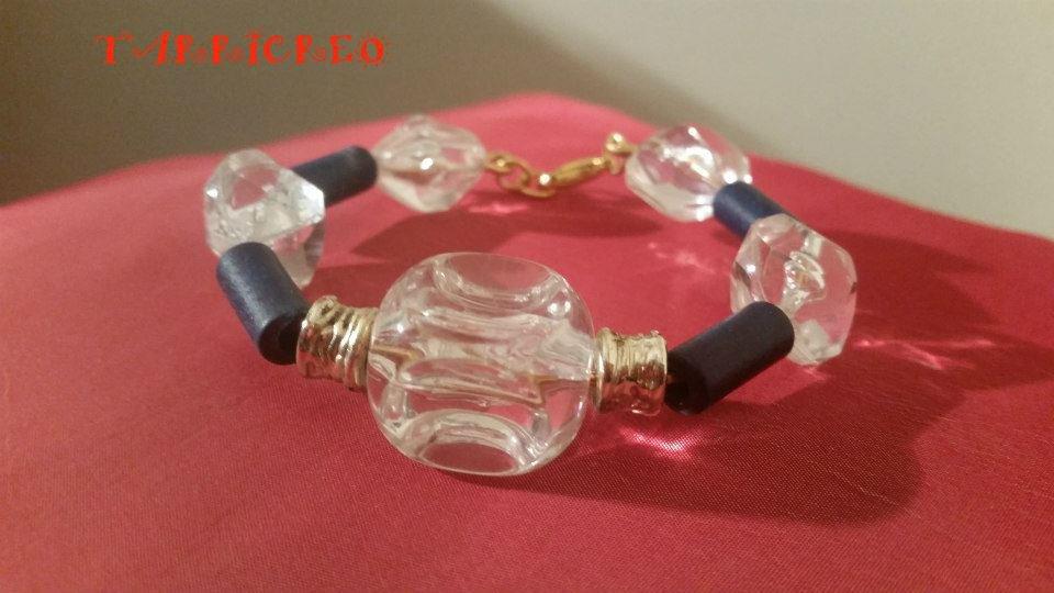 Bracciale DEMETRA - Bracciale con filo in metallo morbido e con inserzione di pietra dura