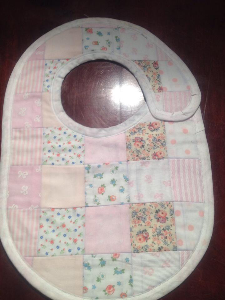 Bavaglino patchwork rosa