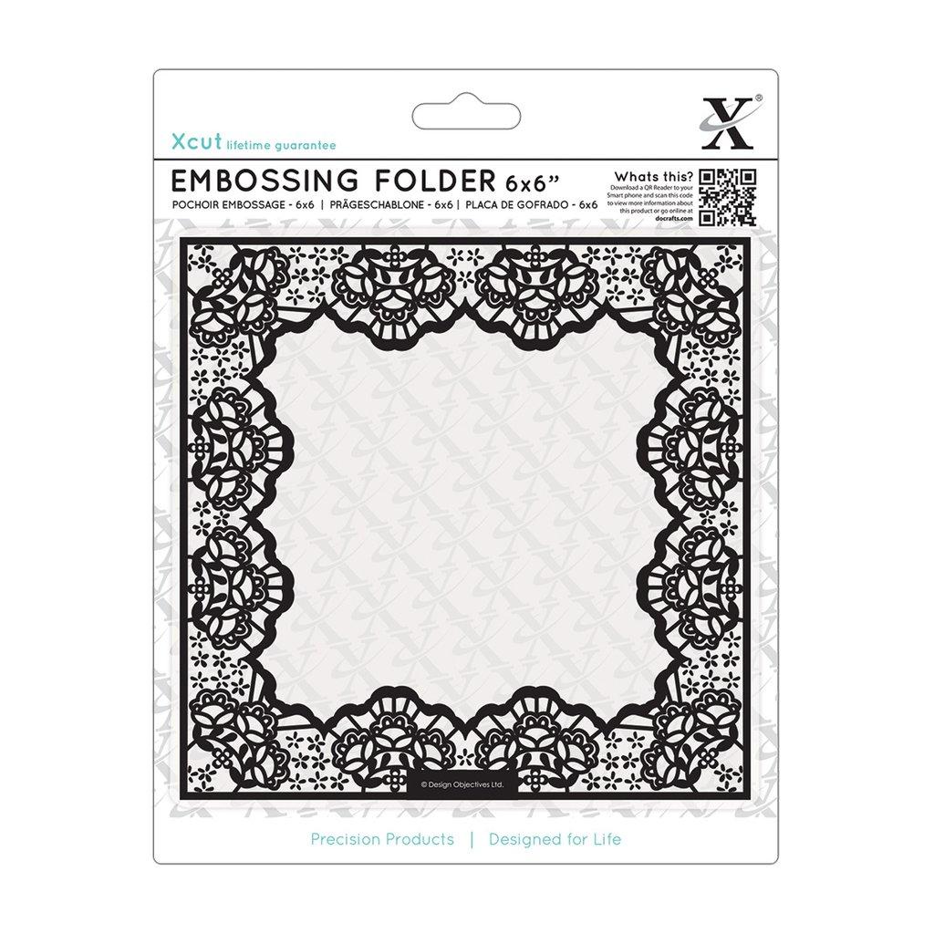 Fustella per embossing 15x15 cm - Lace Frame Delicate