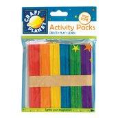 50 Lollipop Sticks - Colorati