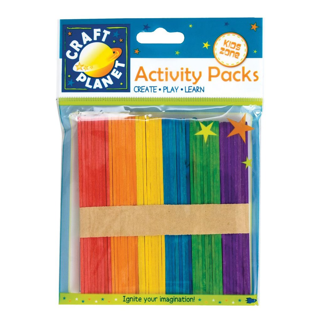 50 Lollipop Sticks - Colorati