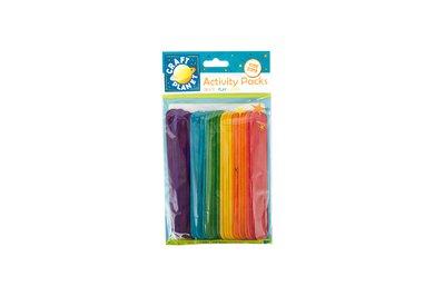 25 Lollipop Sticks Extra Large - Colorati