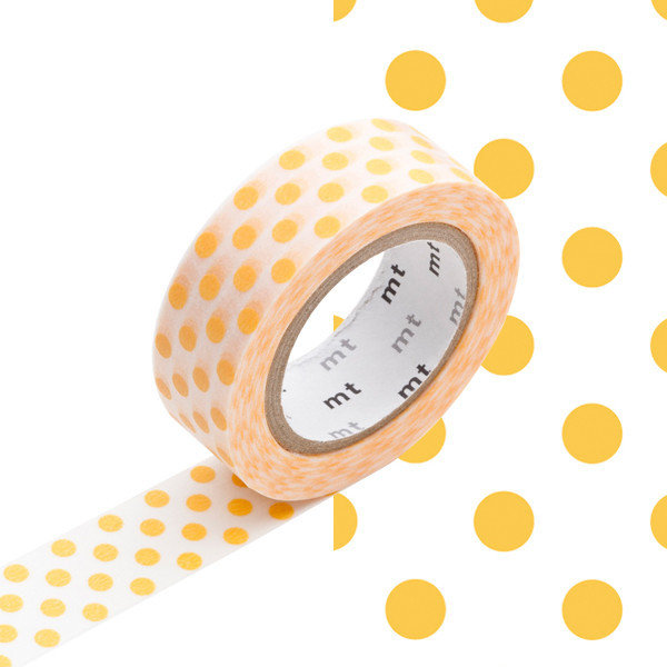 Washi Tape - Dot apricot