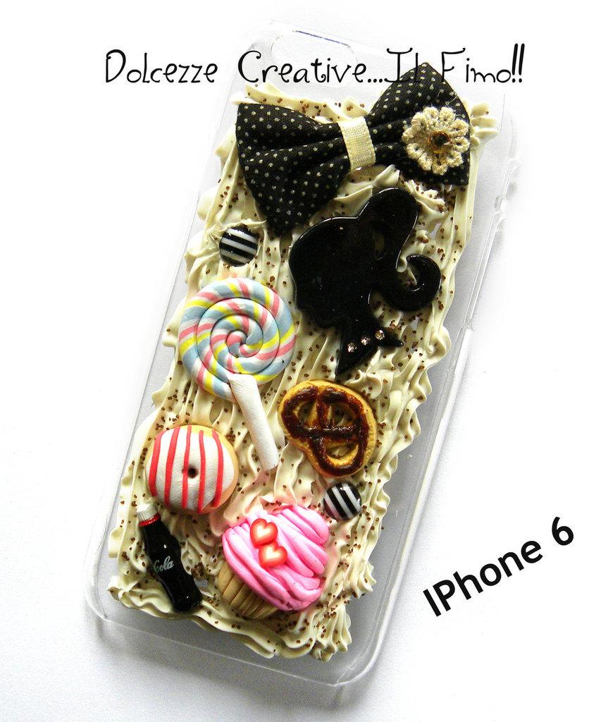 Cover IPhone 6/6s donut, glassa, coca cola, cupcake , ciambella, idea regalo, kawaii, cute, handmade, cioccolato, nutella, caramelle