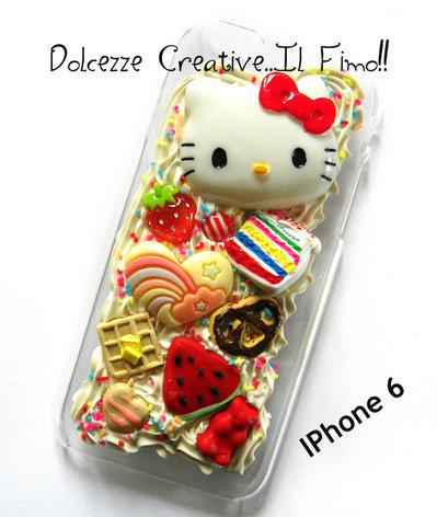 Cover IPhone 6/6s  cute kawaii caramelle, anguria, waffle, rainbow cake, torta, cioccolato, nutella