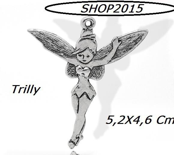 Charm Ciondolo trilly  Argento Antico 5,2x4,6 cm