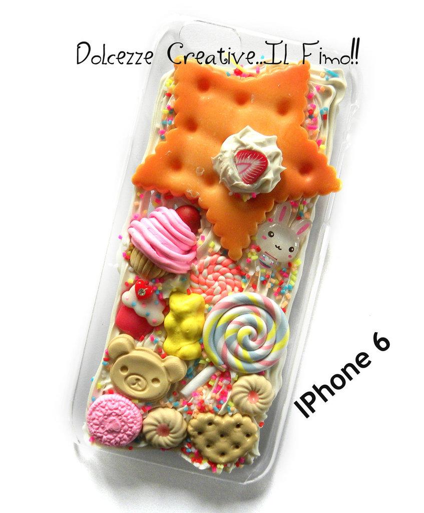 Cover IPhone 6/6s Stella, biscotto, cioccolato, rilakkuma, orso, kawaii, oreo, cupcake, biscotti, idea regalo, regalo ragazza